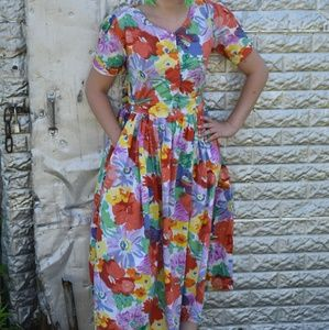 Floral Tropical Dress